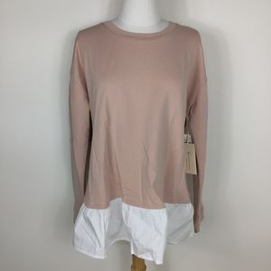 NWT Two by Vince Camuto Pink Layered Sweater